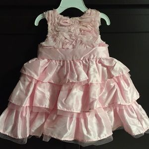 Frilly pink dress by mud pie